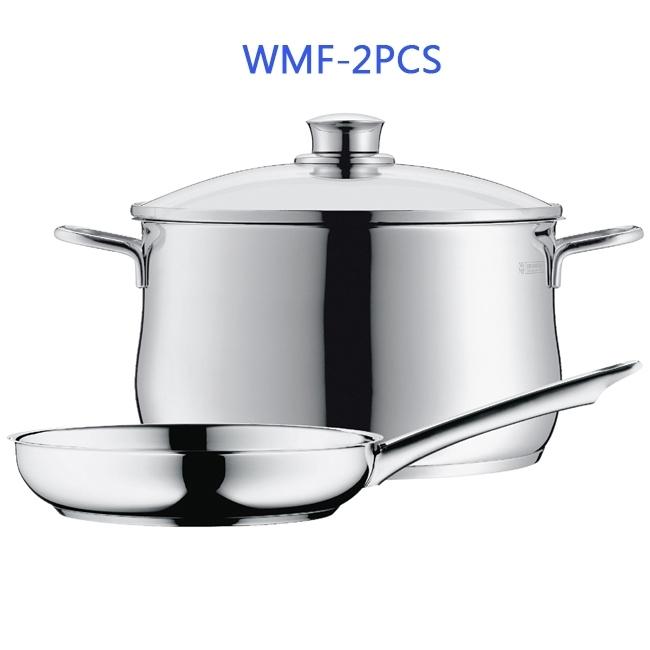 德國WMF 兩件組 24CM湯鍋+24CM煎鍋