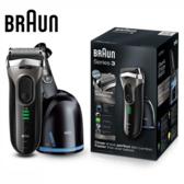 德國百靈 Braun 3090cc 新三鋒系列電鬍刀 (黑銀)