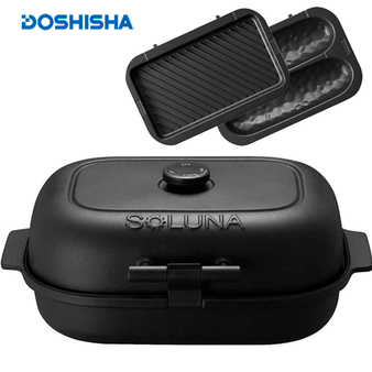 Doshisha 多功能燒烤機 油切/仿窯 雙烤盤 WFS-100