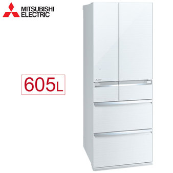Mitsubishi 三菱 MR-WX61C-W-C 605L變頻六門冰箱 玻璃鏡面 日本原裝水晶白