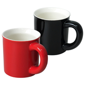 限定◢  經典厚直馬克杯二入一組(紅+黑)
