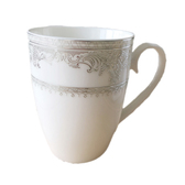 古典骨瓷咖啡杯 精緻紋路、立體浮雕觸感 6入組