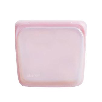 美國 Stasher 方形矽膠密封袋 玫瑰石英粉