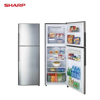 SHARP 夏普 SJ-GX32-SL 冰箱 315L 雙門 變頻 能源效率1級 炫銀不銹鋼色