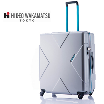 日本 Hideo Wakamatsu Megamax 極輕量26.5吋行李箱(銀色)