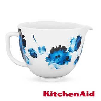 限定◢KitchenAid 5Q陶瓷攪拌盆(青花水墨)+KNBC攪拌缸蓋2入