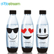 Sodastream 水滴寶特瓶 氣泡水機耗材/配件 1L 3入 Emoji 防漏水 隨身瓶