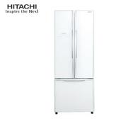 HITACHI 日立 RG430GPW 冰箱 421L 琉璃白 雙獨立風扇冷卻 奈米鈦抗菌除臭