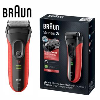 德國百靈 Braun 3030s 新三鋒系列電鬍刀 (紅)