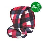 綠標◢ 隨身夥伴 極致質感全罩式頸枕-台灣製 旅行/辦公室午休必備