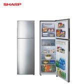 SHARP 夏普 SJ-GX25-SL 冰箱 253L 雙門 變頻 能源效率1級 炫銀不銹鋼色