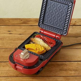 日本 Bruno BOE043 熱壓三明治鬆餅機(紅色)BOE043