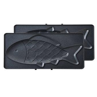 日本 BRUNO Moomin 嚕嚕米熱壓三明治機專用-鯛魚燒烤盤 BOE044-FISH