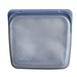 美國 Stasher 方形矽膠密封袋 成熟黑