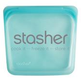 美國 Stasher 方形矽膠密封袋 (雲霧白/成熟黑/珍珠白/曜石黑/蜜桃粉/泡泡藍)