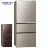 Panasonic 國際牌 NR-C619NHGS-N/T 610公升三門變頻無邊框玻璃冰箱