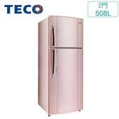 TECO 東元 R5161XP 508L變頻雙門冰箱(典雅粉)