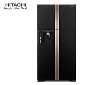 HITACHI 日立 RG616 冰箱 594L 琉璃黑 溫度感應 雙獨立風扇冷卻 奈米鈦抗菌除臭