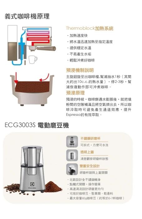 Electrolux 伊萊克斯 EES200E 咖啡機 全不鏽鋼咖啡濾杯把手 經典義式濃縮