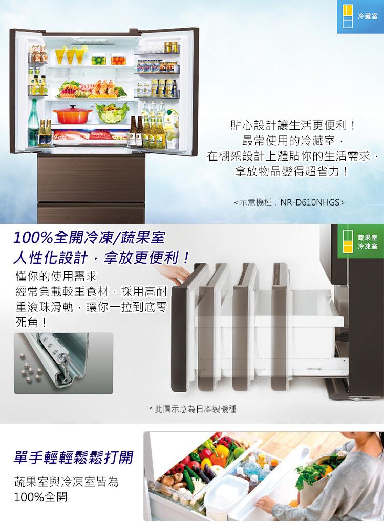 Panasonic 國際 NR-D500NHGS-W 冰箱 500L 四門 翡翠白 變頻